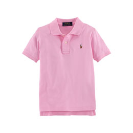 Short-Sleeve Pima Polo Shirt, Taylor Rose, Size 2-7