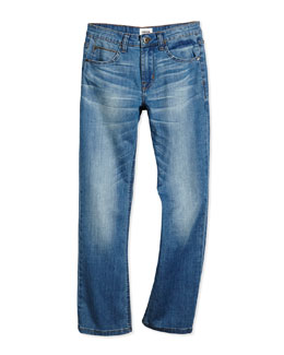 Parker Straight-Leg Jeans, Depth Charge, Size 2T-16