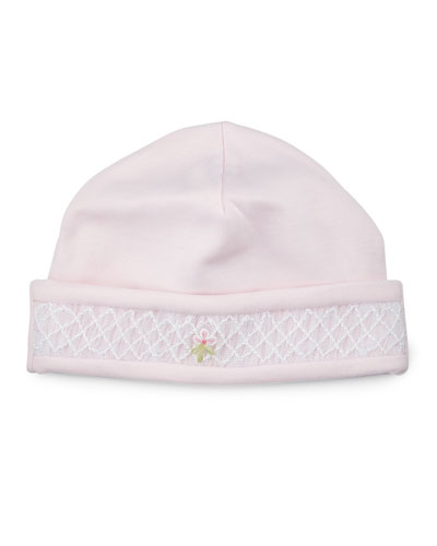 CLB Summer Embroidered Baby Hat, Pink