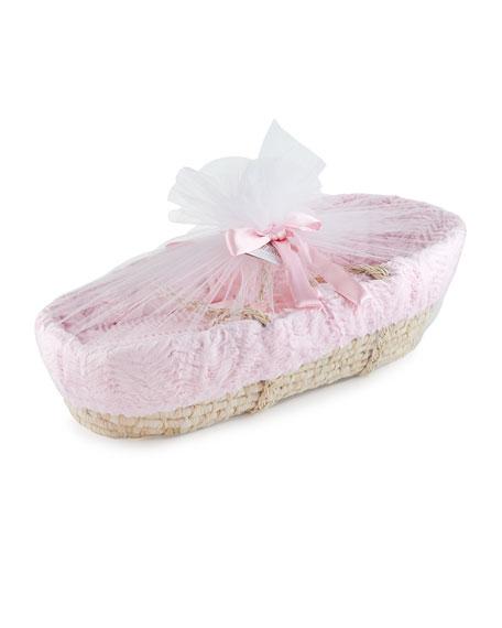 Ziggy Moses Basket w/ Bedding, Pink