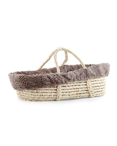 Ziggy Moses Basket w/ Bedding, Slate