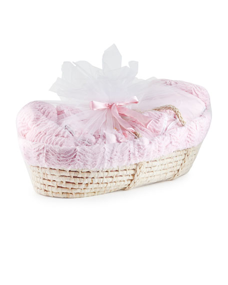 Ziggy Plush Gift Basket, Pink