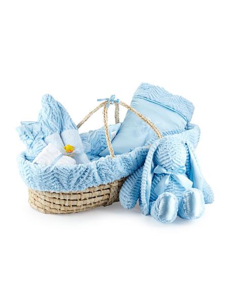 Swankie Blankie Ziggy Plush Gift Basket, Blue