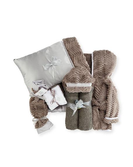 Ziggy Plush Gift Basket, Slate