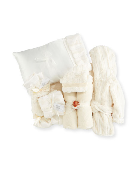 Plush Gift Basket, Ivory