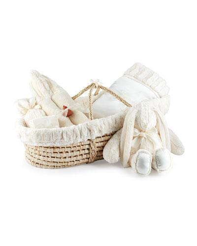 Plush Gift Basket  Ivory
