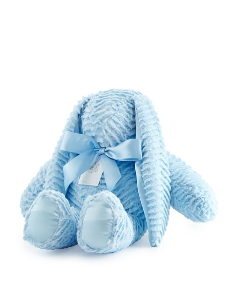 Ziggy Large Plush Bunny, Blue