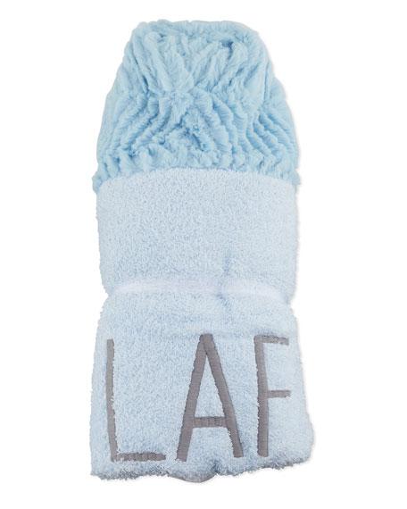 Ziggy Hooded Towel, Blue