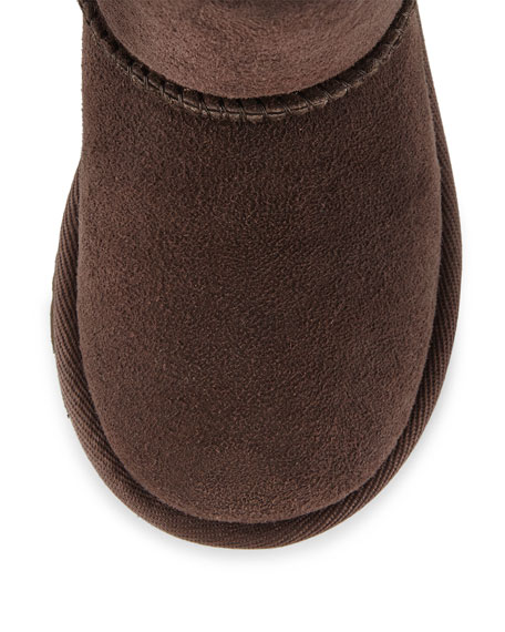 Classic Short Boot, Chocolate, Toddler 6T-12T