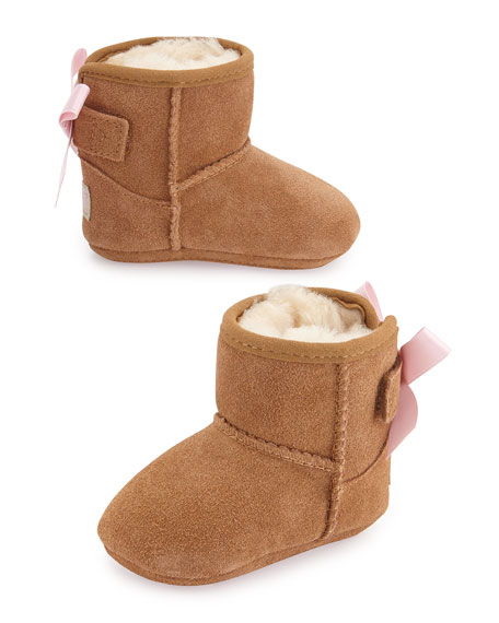 526bfc9a7cfe ... best price ugg jesse suede boot w bow chestnut infants sizes 0 18  months ee894 1ffb2 ...