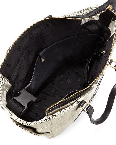 36549b3dbfb Tory Burch Lonnie Leather-Trim Baby Bag