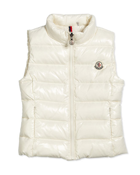 Ghany Quilted Down Vest Cream Size 8 14