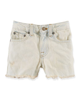 High-Rise Cutoff Shorts, Queen Anne Wash, 2T-6X