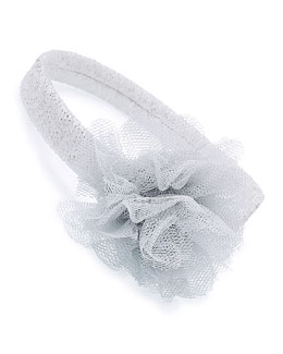Tulle Headband, Ivory