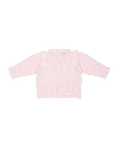 Knit Button-Back Sweater, Pink, Size Newborn-6 Months