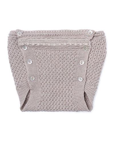 Knit Lace-Trim Bloomers, Beige, Size 3-12 Months