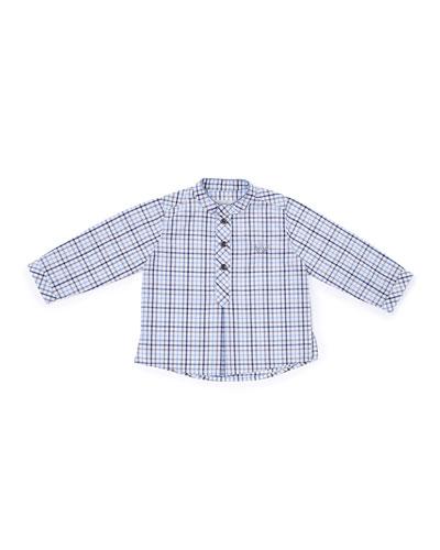 Woven Plain Poplin Shirt, Blue, Size 6-18 Months