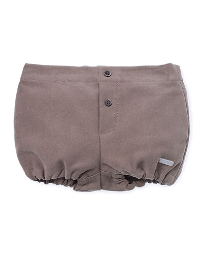 Cotton Faux-Fly Bloomers, Brown, Size 6-18 Months