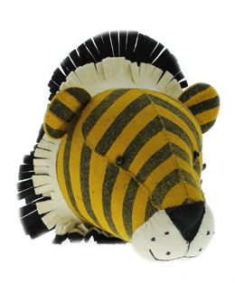 Felt Tiger Head Wall Mount