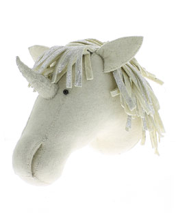 Felt Unicorn Head Wall Mount