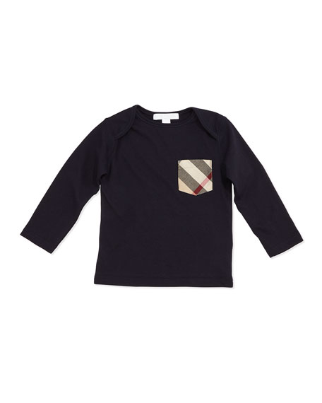 Callum Long-Sleeve Jersey Tee, Size 3M-3Y