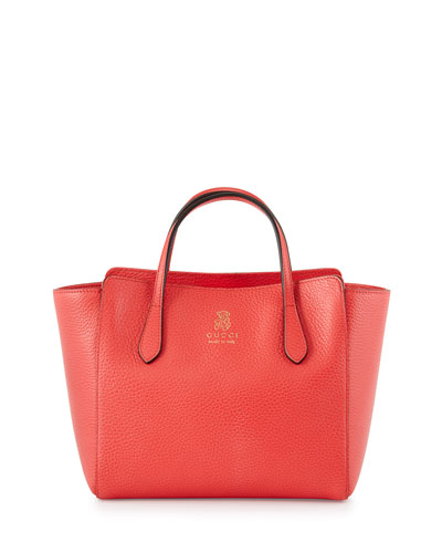 Girls' Pebbled-Leather Tote Bag