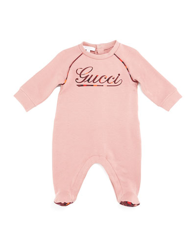 Long-Sleeve Logo Footie Pajamas, Lovely Rose/Berry