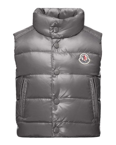Bernard Puffer Vest, Gray, Size 12M-3