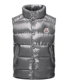Tib Down Puffer Vest, Gray, Size 4-6