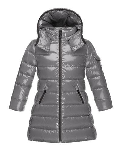 Moka Down Puffer Coat, Platinum, Size 8-14