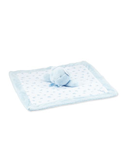 Teddy Bear Security Blanket, Blue