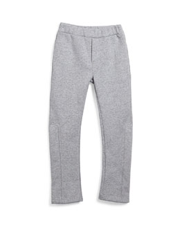 Fleece-Lined Track Pants, Gray, Size 6-10