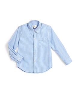 The Standard Striped Shirt, Pale Blue, Size 2-14