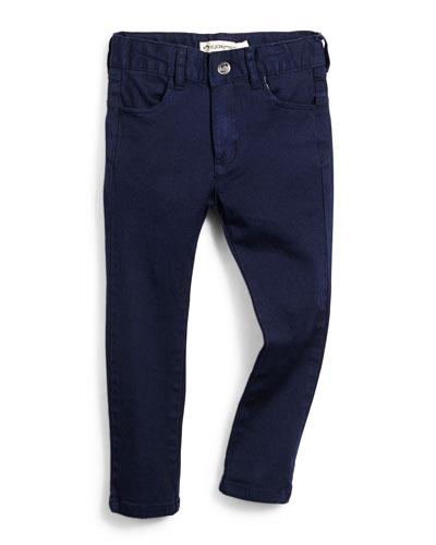 Skinny Stretch-Twill Pants, Size 4-14