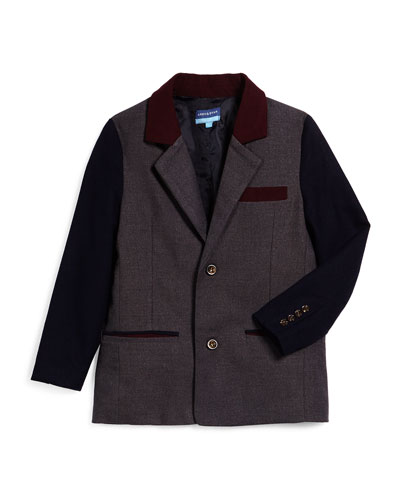 GRY NVY MAROON BLZR