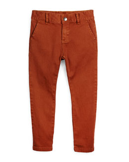 Bushwick Stretch-Twill Pants, Gingerbread, Size 4-14