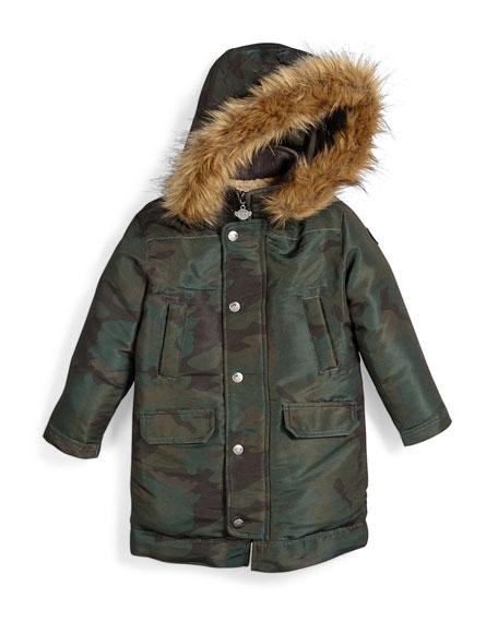 Pratt Hooded Down Parka Coat, Size 4-14