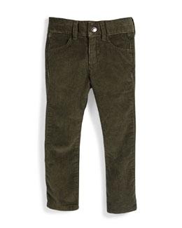 Skinny Corduroy Pants, Forest Night, Size 6-14