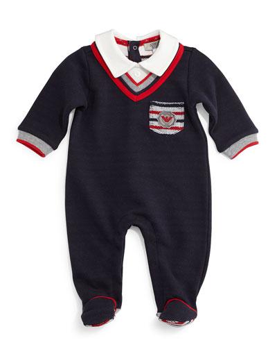 Cotton Illusion Footie Pajamas, Midnight, Size 3-12 Months