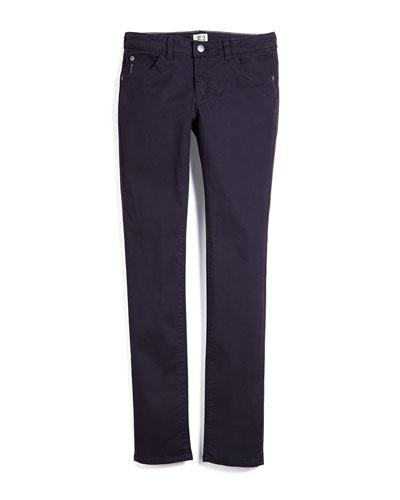 Woven Skinny Pants, Indigo, Size 10-14