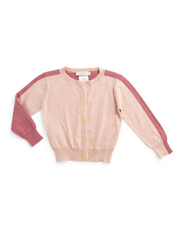 Lauren Snap-Front Colorblock Cardigan, Rose, Size 6-24 Months