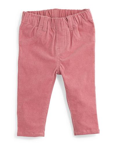 Marta Stretch-Knit Corduroy Pants, Rose, Size 12-24 Months