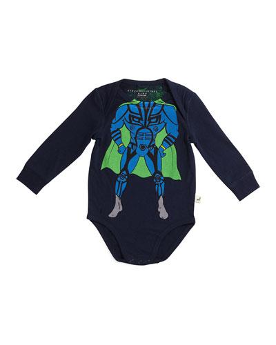 Eckles Cotton Superhero Playsuit, Midnight, Size 6-12 Months