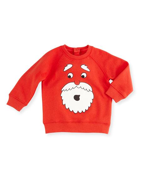 Billy Danta Raglan Pullover Sweatshirt, Red, Size 6-24 Months