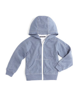 Thermal Double-Layer Hoodie, Baltic Blue, Size 2-7