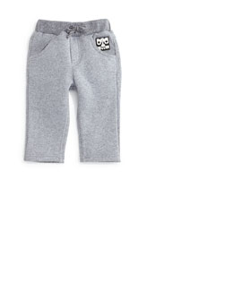 Knit Drawstring Sweatpants, Gray, Size 12M-2Y