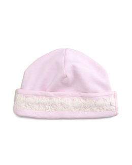 Winter Roses Pima Baby Hat, Pink