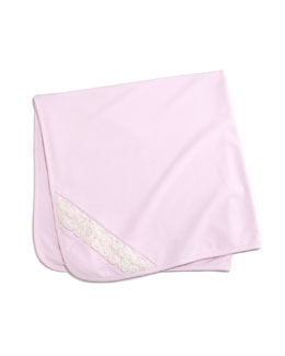 Winter Roses Pima Baby Blanket, Pink
