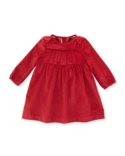 Alara Smocked Corduroy Dress, Rose, Size 3M-3Y