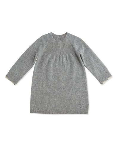 Ivanna Cashmere Shift Dress, Size 3M-3Y